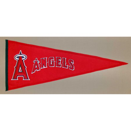 Los Angeles Angels Official MLB 32 inch x 13 inch Wool Traditions Pennant by Winning Streak
