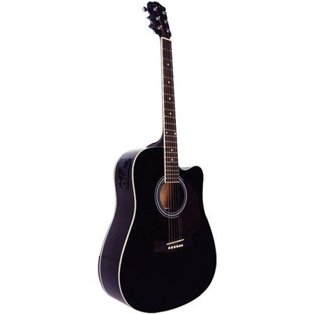 spectrum 41 cutaway acoustic electric guitar pack maple with high gloss black finish. Black Bedroom Furniture Sets. Home Design Ideas