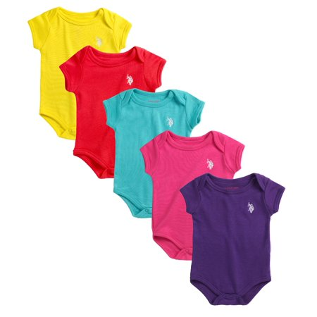 3752ecba1 US Polo Assn. Girls Boys Baby Infant Newborn Toddler 5 Pack Variety ...