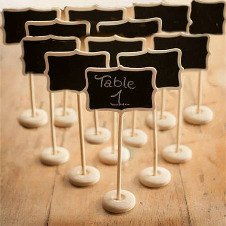 PACK OF 10 PIECES MINI RECTANGLE BLACKBOARD VINTAGE CHALKBOARD STAND](Cheap Chalkboards)