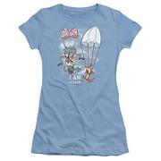 I Am Weasel Balloon Ride Juniors Short Sleeve Shirt