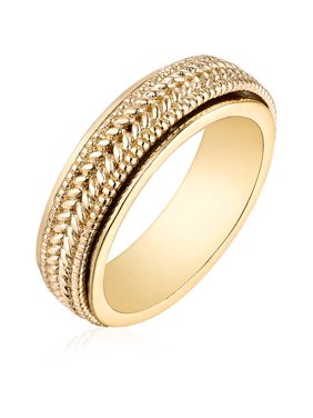 18kt Gold-Tone Rolling Ring