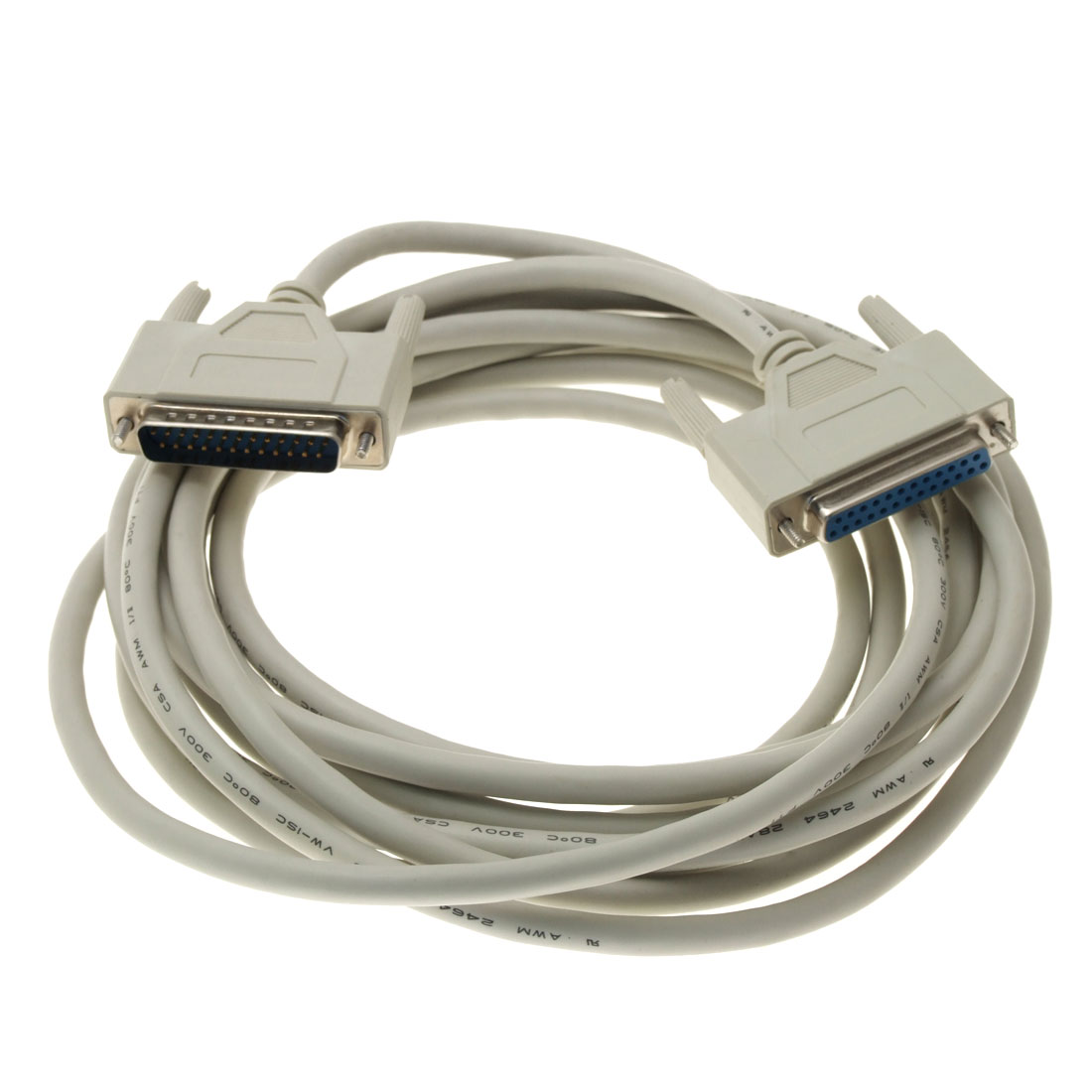 DB25 Pin Male to Female SCSI Parallel Extension Cable