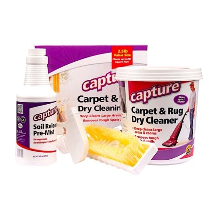 Capture Carpet Dry Cleaning Kit 250 - Resolve Allergens Stain Smell Moisture Rug