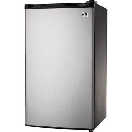 Reversible Door Flush Back Design (Igloo FR322, 3.2 cu. ft. Refrigerator and Freezer, Platinum Color, Compressor cooling, CFC-free, Flush back design)