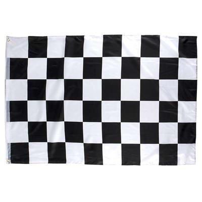 Checkered Racing Flag 3x5 Ft Black & White - Play Kreative TM (RACING)
