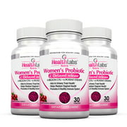 Health Labs Nutra Probiotics for Women with Cranberry & D-Mannose – Promotes Optimal Vaginal, Urinary and Digestive Health (30 Capsules) (Pack of 6)