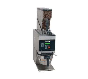 40700.0001 G9WD-RH SST Weight Driven Coffee Grinder With Single Hopper BrewWISE LCD Display in Stainless Steel by