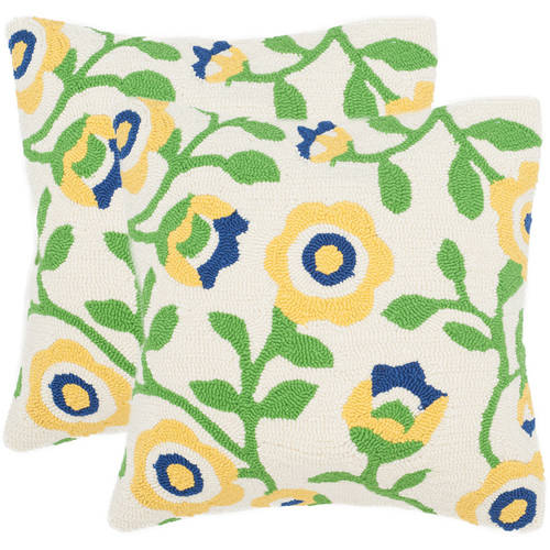 Safavieh Provence Floral Indoor/Outdoor Decorative Pillow (Set of 2)