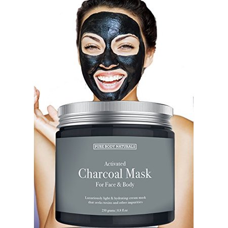 - NEW Activated Charcoal Face Mask, Charcoal Mask for Blackheads, Acne, Oily Skin, Hydrating & Exfoliating, by Pure Body Naturals, 8.8 Fl. Ounce