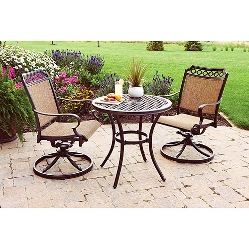 Better Homes and Gardens Paxton Place 3-Piece Outdoor Bistro Set, Seats 2