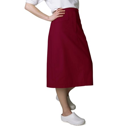(Universal Basics by Adar Women's Mid-Calf Angle Pocket Scrub Skirt)