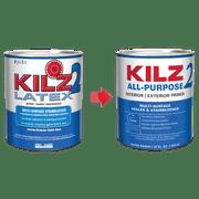Kilz 2 1 Qt Latex Interior Exterior Primer New Look Same