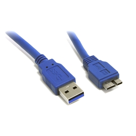 1 FT SUPERSPEED USB 3.0 CABLE A TO MICRO B