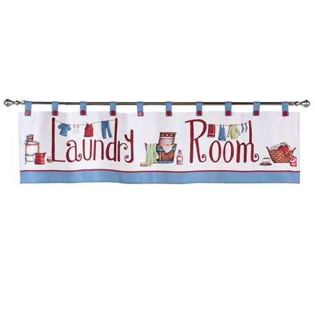 Laundry Room DÃ Cor Window Curtain Valance With Tab Top On Design