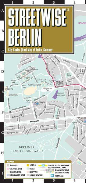 Laminated Michelin Berlin City Map