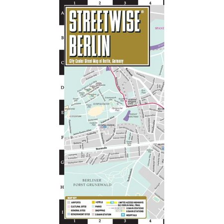 Streetwise berlin map - laminated city center street map of berlin, germany - folded map: 9782067229990