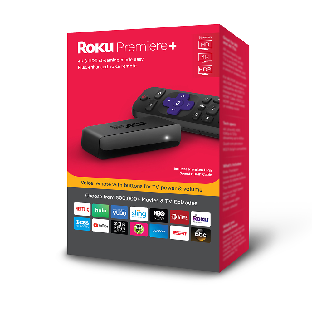 Roku Premiere+ Streaming Player NEW and Get 1 month free of Hulu with Live TV including Enhanced Cloud DVR and Unlimited Screens.