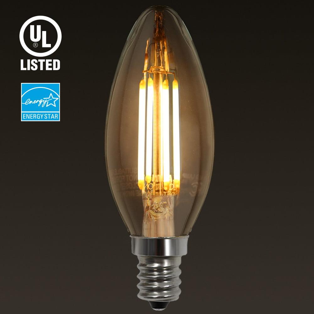 E12 Led Walmart: 4W E12 LED Filament Vintage Candle Light Bulb, Candelabra