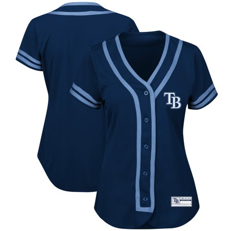 Tampa Bay Rays Majestic Women's Fashion Absolute Victory Cool Base Team Jersey - Navy/Light - 2007 Absolute Jersey