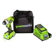 Greenworks 24-Volt Cordless 0.5-Inch 1750 RPM 2-Speed Drill Bundle | 37012C