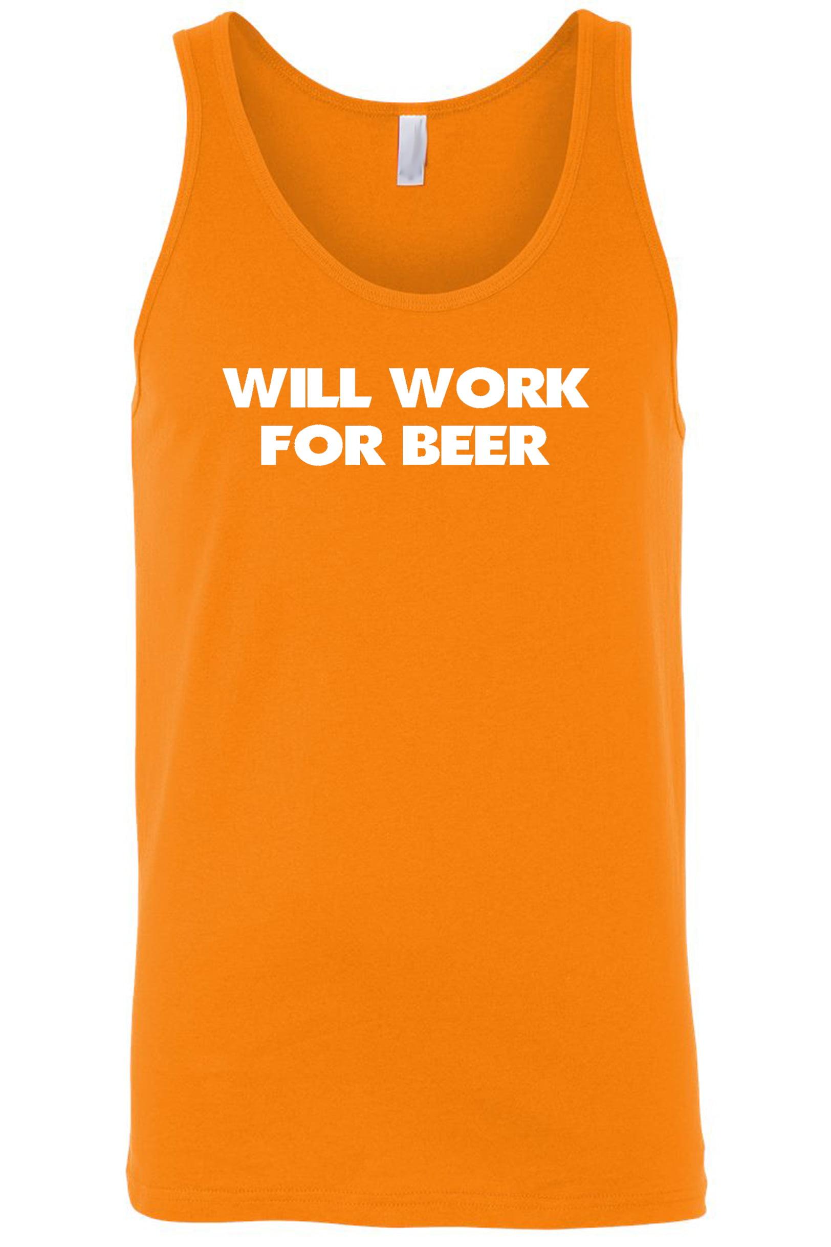 Men's Will Work For Beer Tank Top Shirt