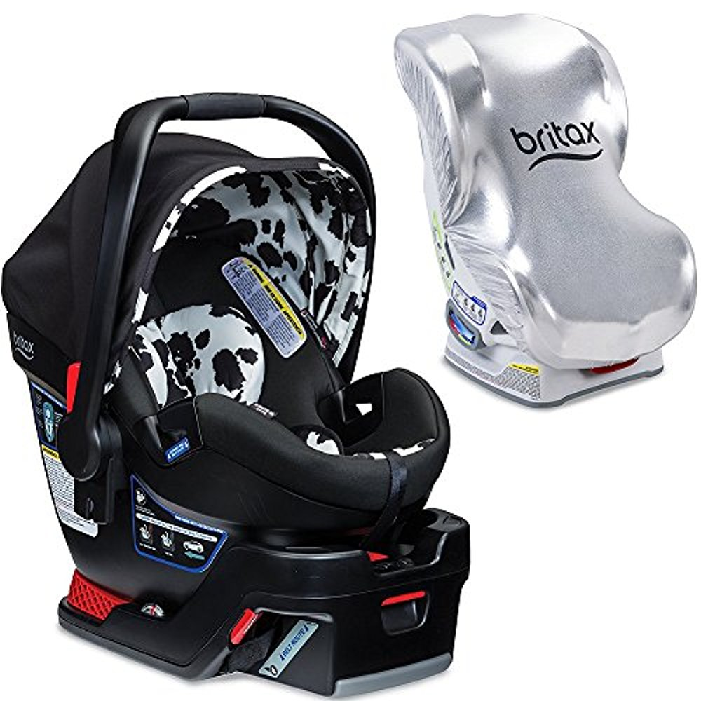 Britax B-Safe 35 Elite Infant Car Seat with Sun Shield, Cowmooflage