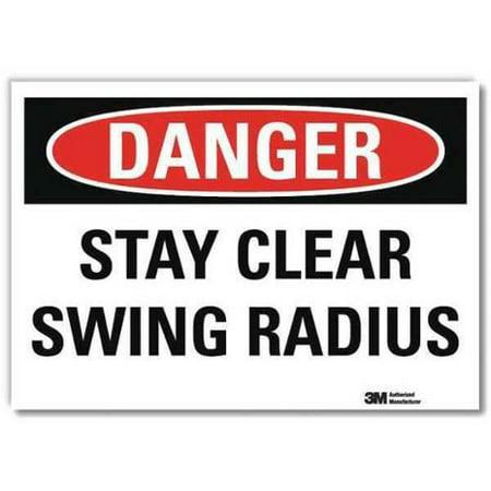 LYLE U3-1994-RD_14X10 Danger Sign,Slf-Adhesv Mount,14inWx10inH - 1994 Sign