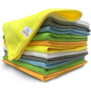 iCooker 12 Pack Microfiber Cloths Cleaning Supplies [Get Lint-free Polished Results] Micro Fiber Cleaning Towels for Cars