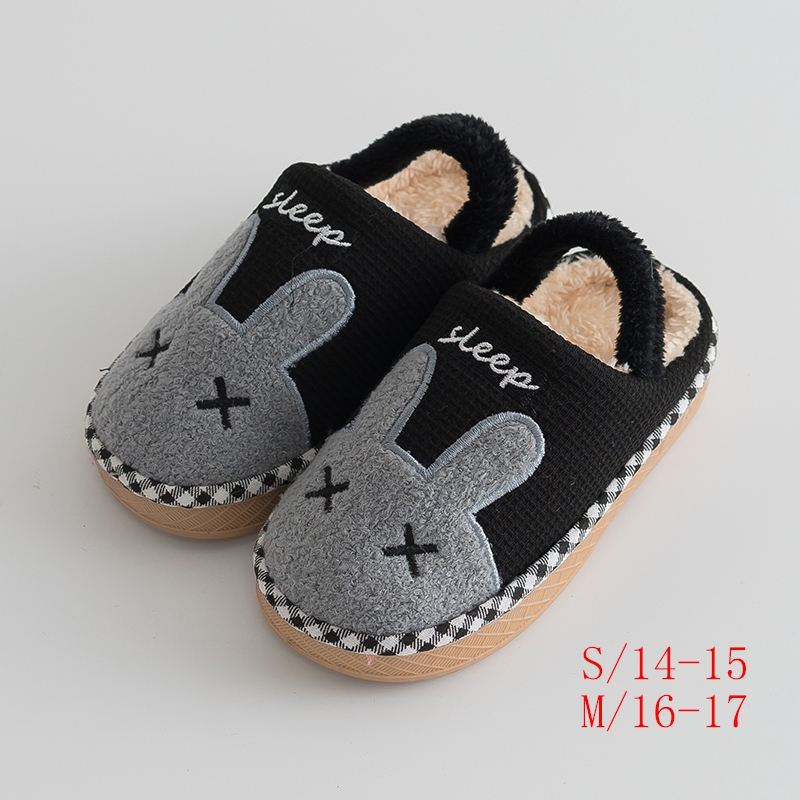 Weixinbuy Unisex Baby Soft Plush Winter Warm Slipper Loafers Crib Shoes