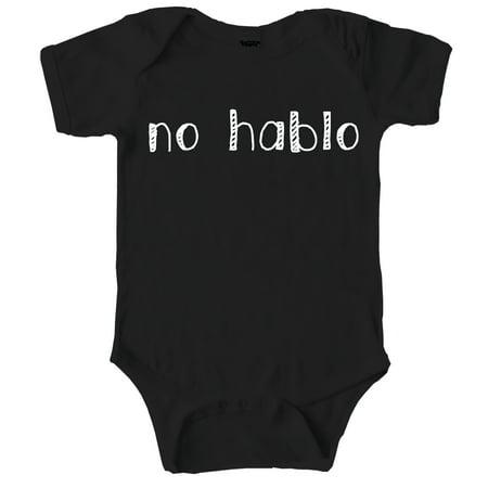 Pirate Funny Infant Bodysuit - No Hablo Funny Self Mocking Baby Creeper Spanish Bodysuit for Infants