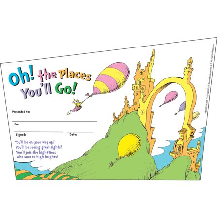 SEUSS-OH THE PLACES YOULL GO RECOGNITION AWARDS](Funny Recognition Awards)