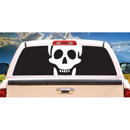 FLAMES 1 Rear Window Graphic tint decal truck view thru vinyl