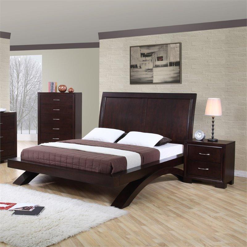 Picket House Furnishings Zoe 3 Piece Queen Bedroom Set In Espresso