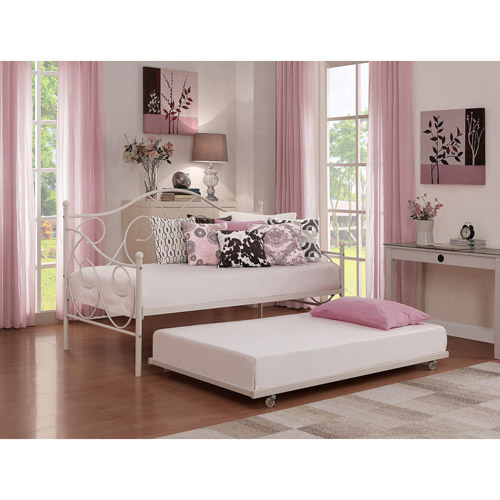 finest selection f1645 c075e Victoria Metal Daybed and Trundle, White - Walmart.com