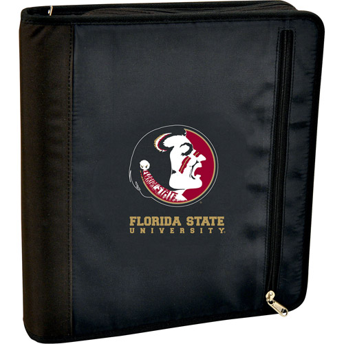 Turner Licensing 3-Ring Zipper Binder, Florida State Seminoles