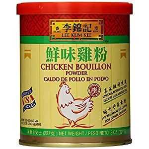 Lee Kum Kee Chicken Bouillon Powder  8 Ounce + One NineChef Spoon (4 Bottle) Collection 8 Ounce Bouillon