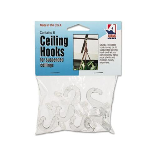 ADAMS MANUFACTURING CORP. Clear Plastic Ceiling Hooks ADM1900993241