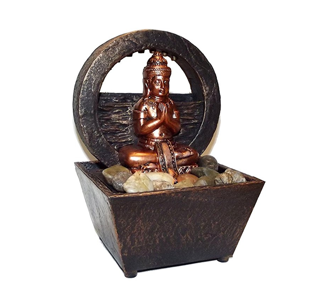 Nature's Mark Newport Coast Collection Tranquil Buddha LED Fountain, 8 X 6 inches by