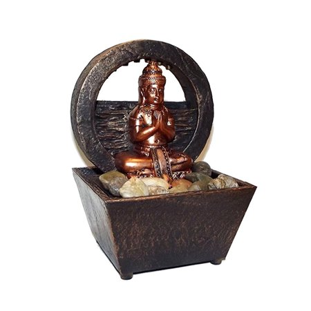 Nature's Mark Newport Coast Collection Tranquil Buddha LED Fountain, 8 X 6 inches ()