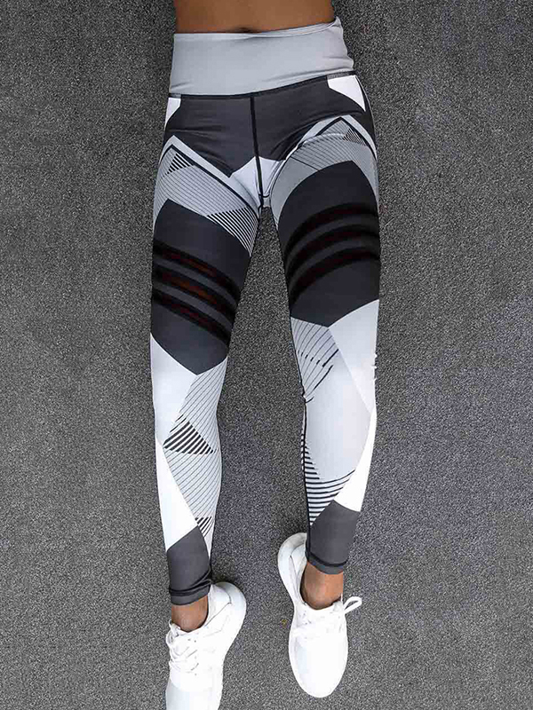 eb9c51d74 Coxeer - Coxeer Yoga Leggings Geometric Printing Stretchy High Waist Tights  Sport Workout Pants for Women - Walmart.com