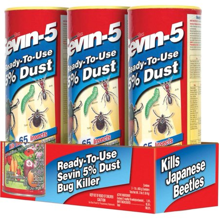 Gulfstream Home Garden (Garden Tech Dust Bug Killer Multiple Insects Carbaryl 3 / Pack, COUNTRY OF ORIGIN US By Gulfstream )