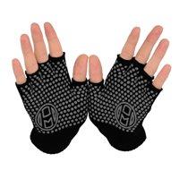 Mato & Hash Yoga Pilates Fingerless Exercise Grip Gloves - Black CA7050
