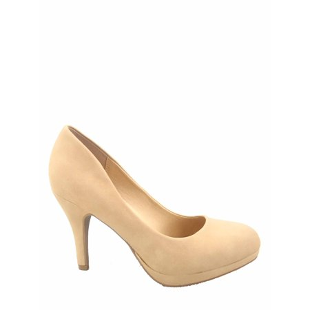 Pretty Yellow High Heel (Jack-h Women's Fashion Comfort Round Toe Low Platform High Heel Pump Dress)