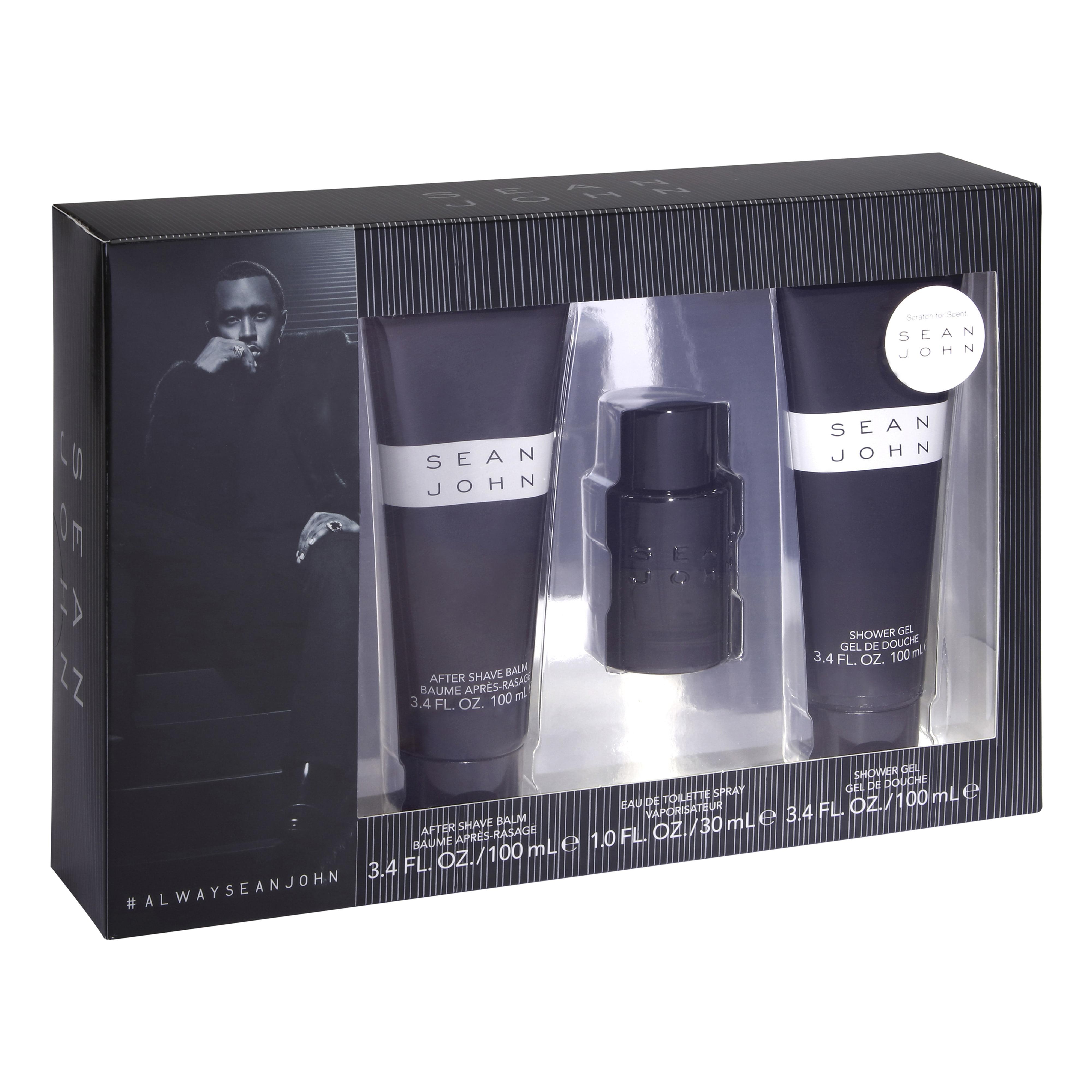 Sean John Cologne Spray, Shower Gel, & Aftershave Gift Set for Men, 3 Piece ($74 Value)