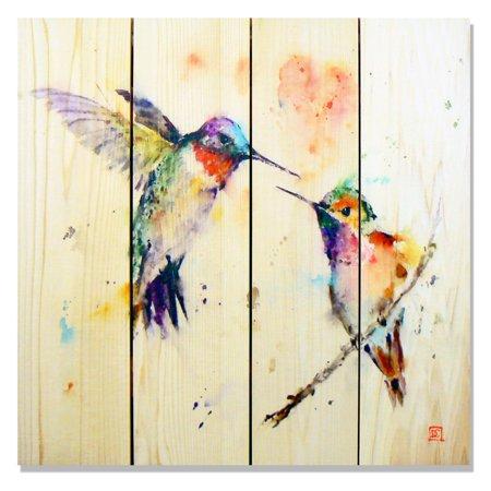 Gizaun Art Signature 1 Love Bird Indoor Outdoor Wall Art