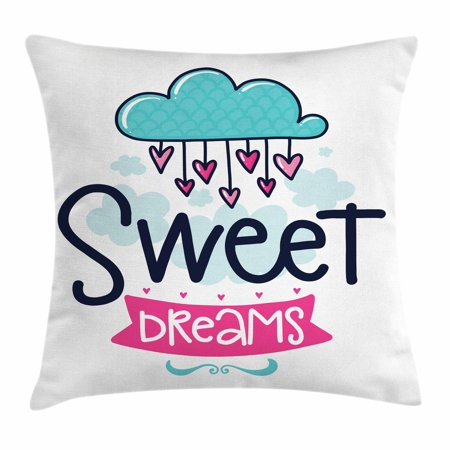 Sweet Dreams Throw Pillow Cushion Cover Cartoon Hanging Hearts From New Sweet Dreams Decorative Pillows