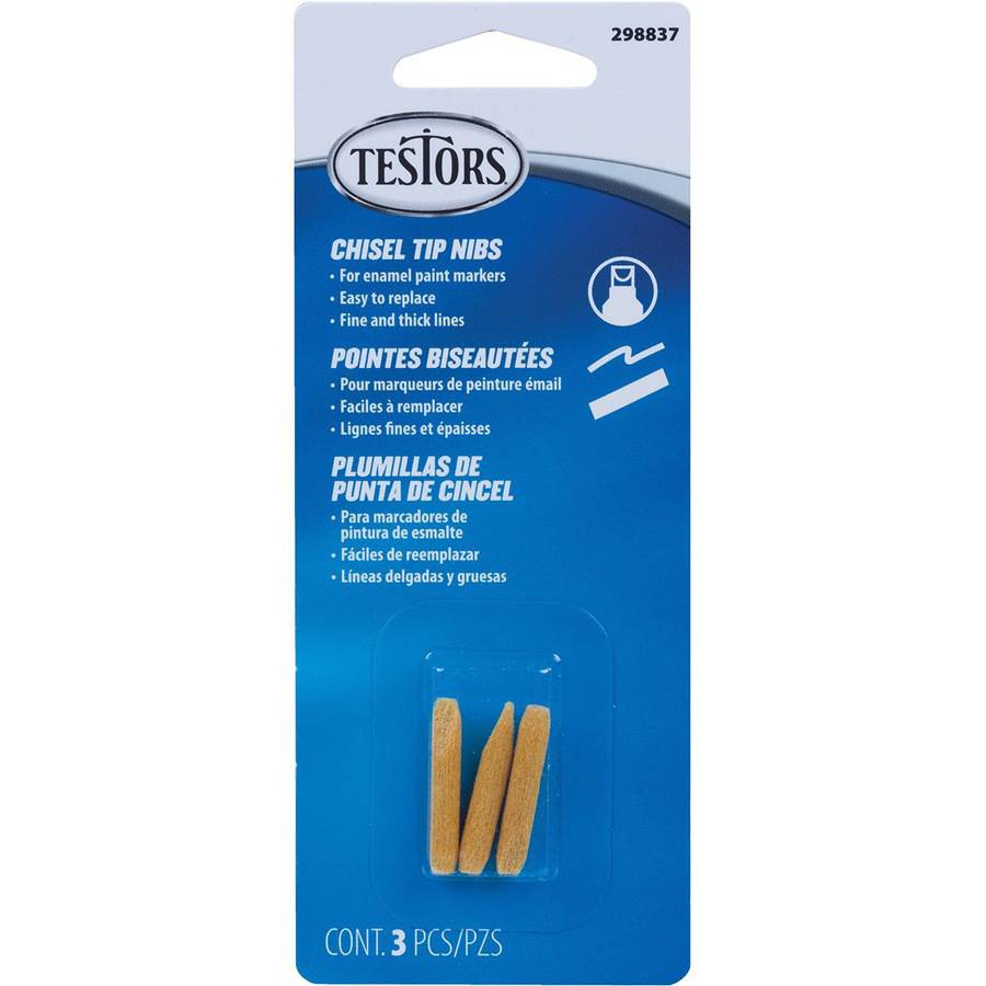 Testor Chisel Tip Replacement Nib For Paint Marker, 3pk