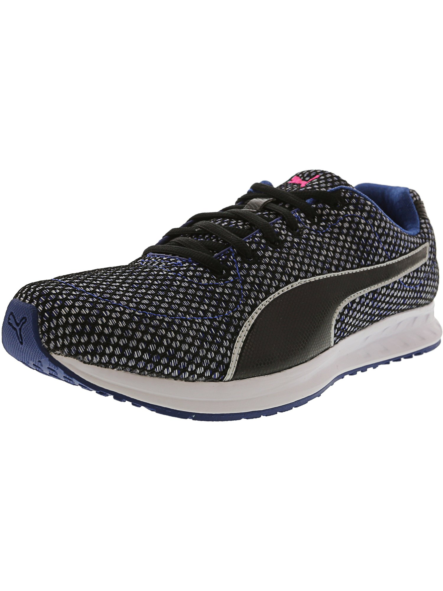 Puma Women's Burst Tech True Blue / Black White Ankle-High Mesh Running Shoe - 9M