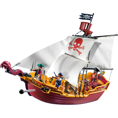PLAYMOBIL Red Serpent Pirate Ship (Plans For Building A Pirate Ship Playhouse)